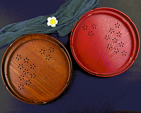 Wooden Sakura Tea Tray