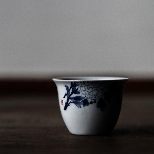 Qing Hua Hydrangea Teacup