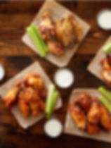 to-pdown-view-of-chicken-wing-party-plat
