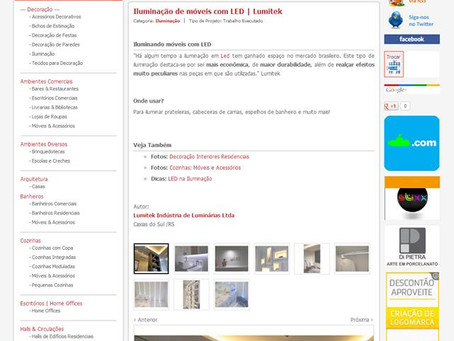 Lumitek é destaque no site Clique Arquitetura