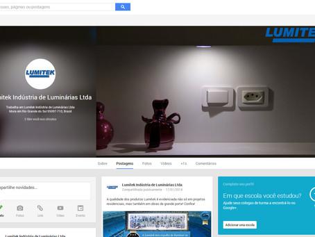 Lumitek agora também no Google Plus