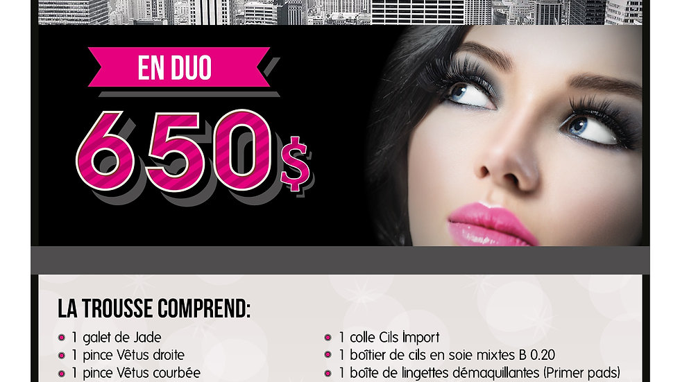 Formation extension de cils (en duo ou en groupe)