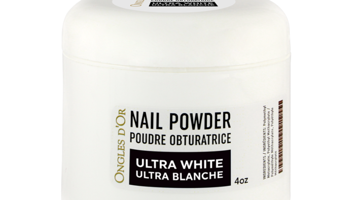 Poudre Ultra Blanche Ongles d'Or 4 oz