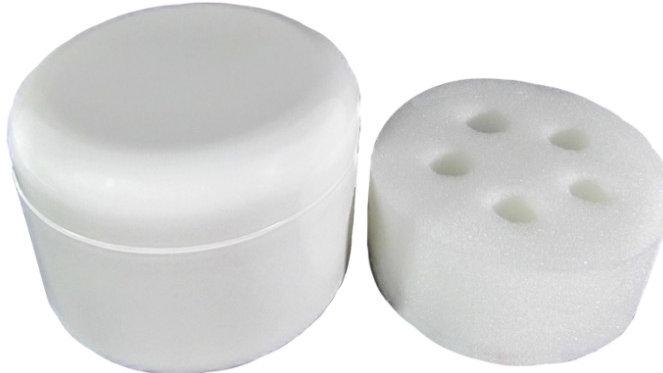 Plastique 8oz avec Couvercle + Éponge 5 Trous