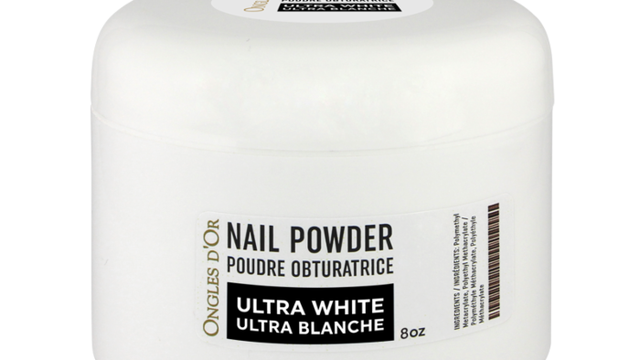 Poudre Ultra Blanche Ongles d'Or 8 oz