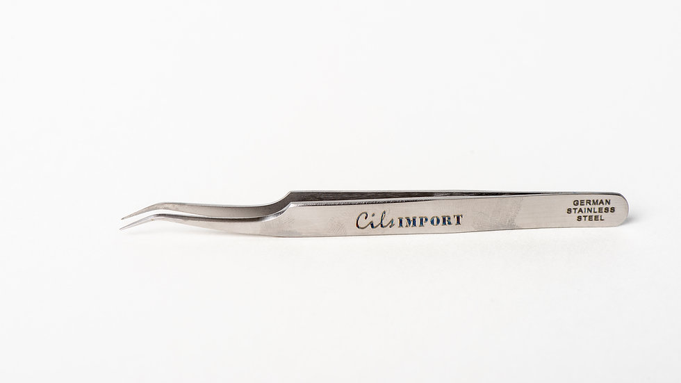Cils Import Pince Stainless Petite Courbée Ultra Fine 45°