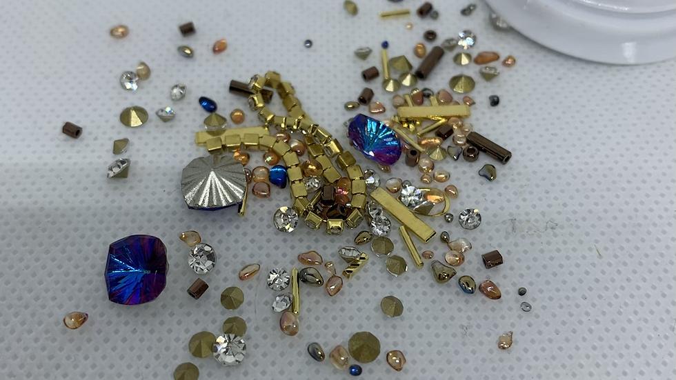 Boîte nail art diamant et chaînette