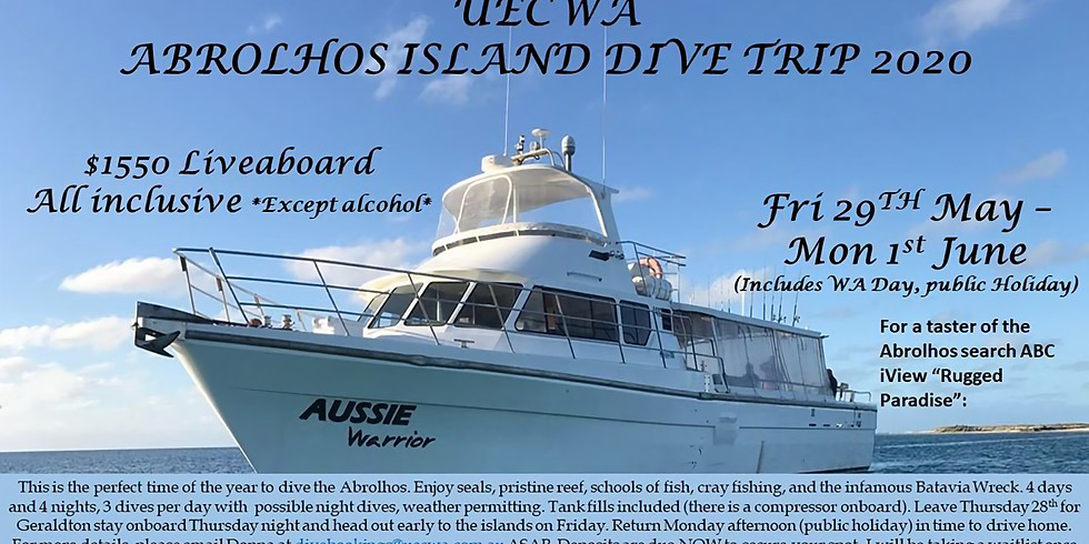 Abrolhos Islands Thursday 28th May to 1st June