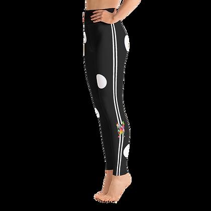 Cookie Dot Yoga Leggings - Black
