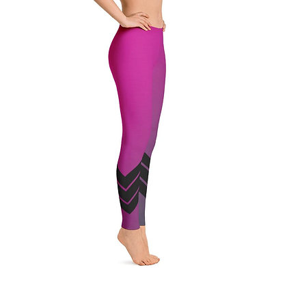 Women's All Day Comfort Pink Venture Pro Stripe Leggings