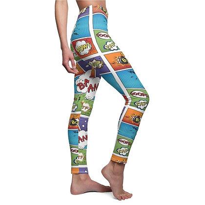 Comic Print Casual Leggings