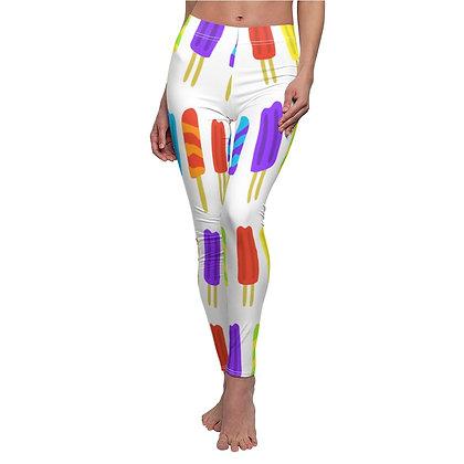 Popsicle Print Casual Leggings - White