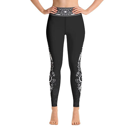 Nirvana (Black) High Waist Womens Yoga Leggings