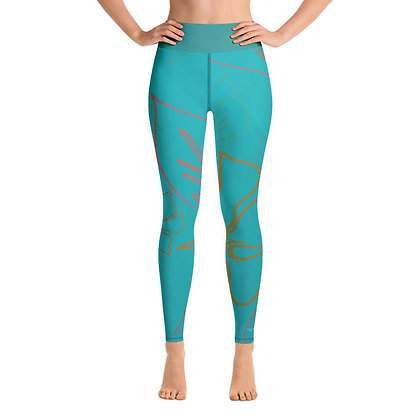 Women's Active Comfort Sport Aloha Full Length Leggings
