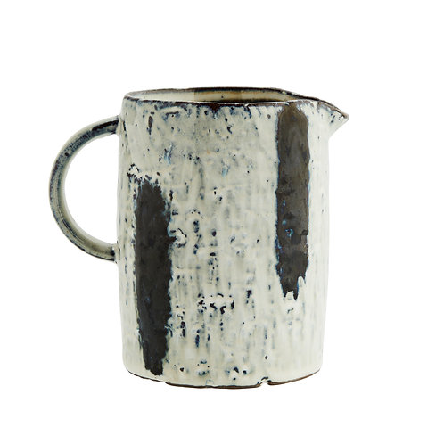 Stoneware blue and white jug