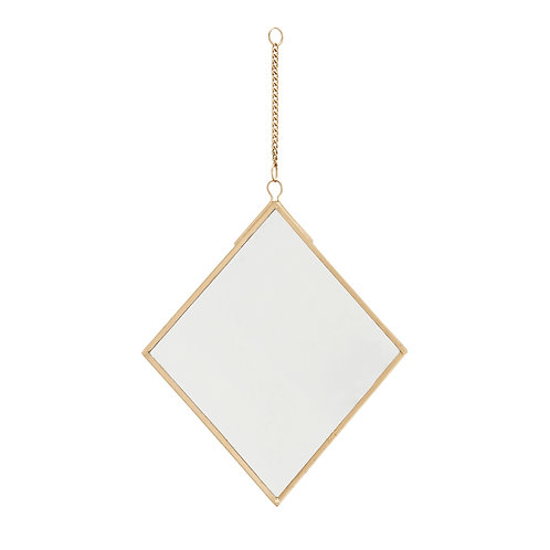 Gold hanging wall mirror
