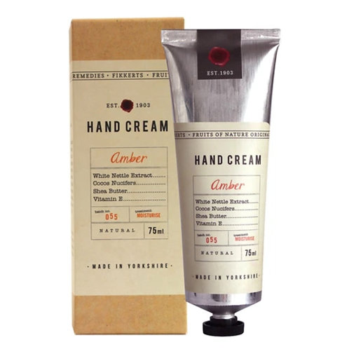 Amber hand cream