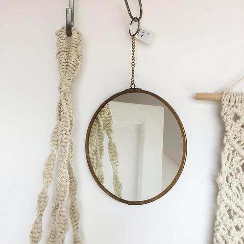Circular hanging mirror