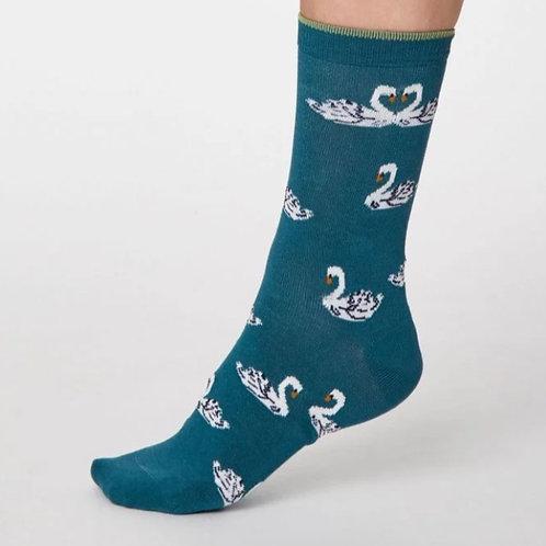 Teal swan socks