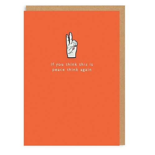 Peace enamel pin card