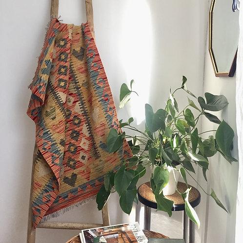 Hand woven kilim rug