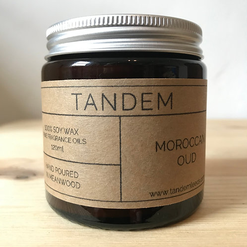 Moroccan oud soy wax candle