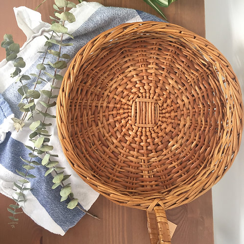 French wicker bread basket