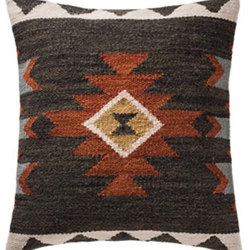 Sakala black kilim cushion