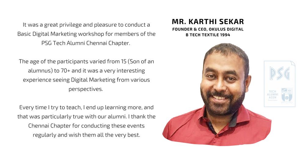 Mr. Karthi Sekar