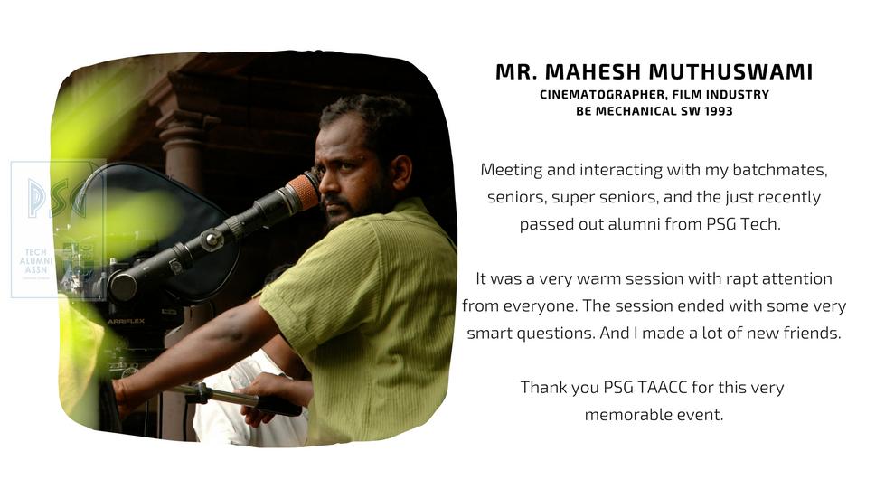 Mr. Mahesh Muthuswami