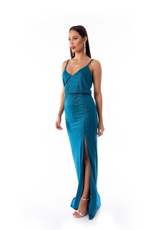 Shimmer Evening Dress - Teal