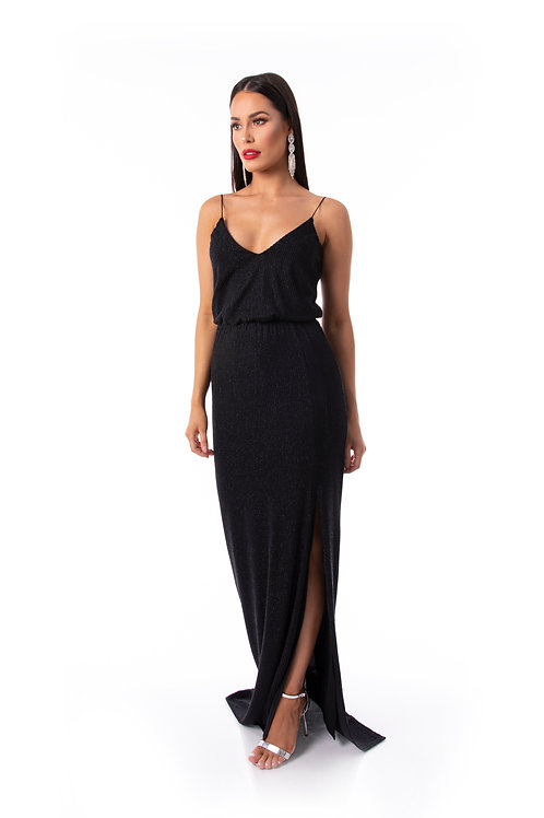 Sequin Evening Dress - Black