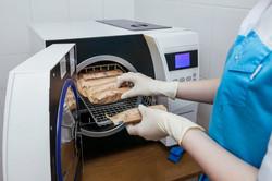Desinfección de materila de implantes