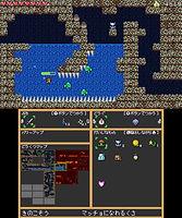 ドウクツジマゲーム画面(上)+アイテム選択(下)