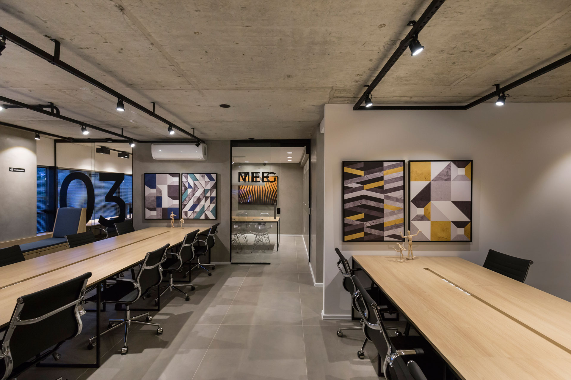 Interiores do Coworking Zona Sul