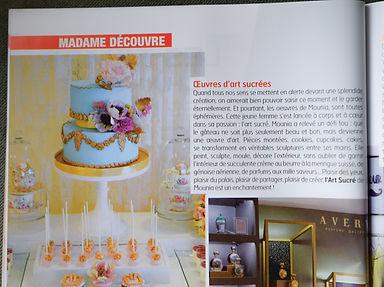 Madame à Casa article Art Sucré by Mounia