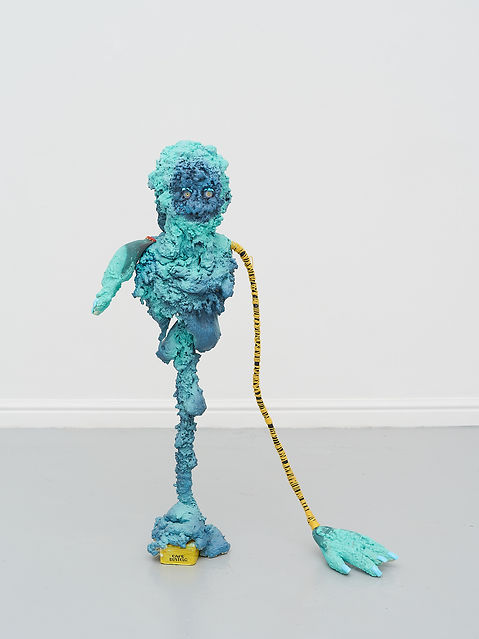 Zain- Found Objects, foam, paint, nails,