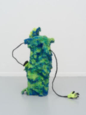 Zander 1 - Found objects, foam, paint, g