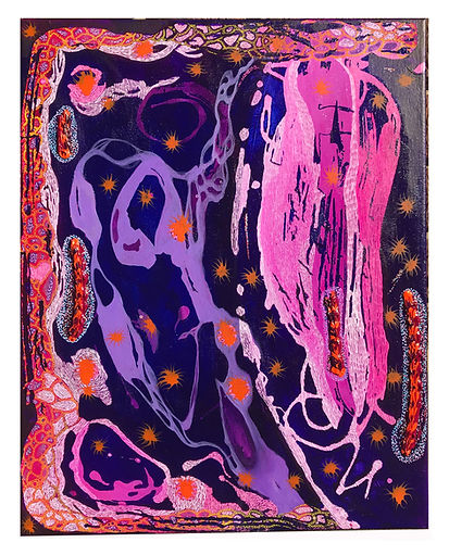 The Traveler_ 20in x 16in_ Acrylic, ink