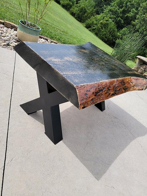 Rustic live edge coffee table