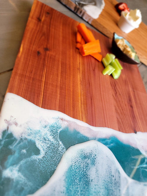 """Ocean Theme 12"""" x 16"""" Charcuterie Cutting Board"""