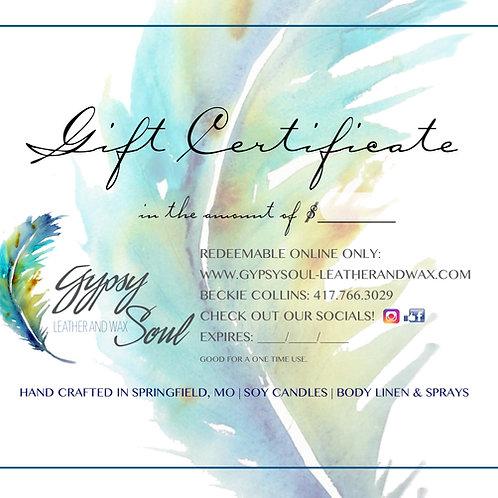 Gypsy Soul Gift Card