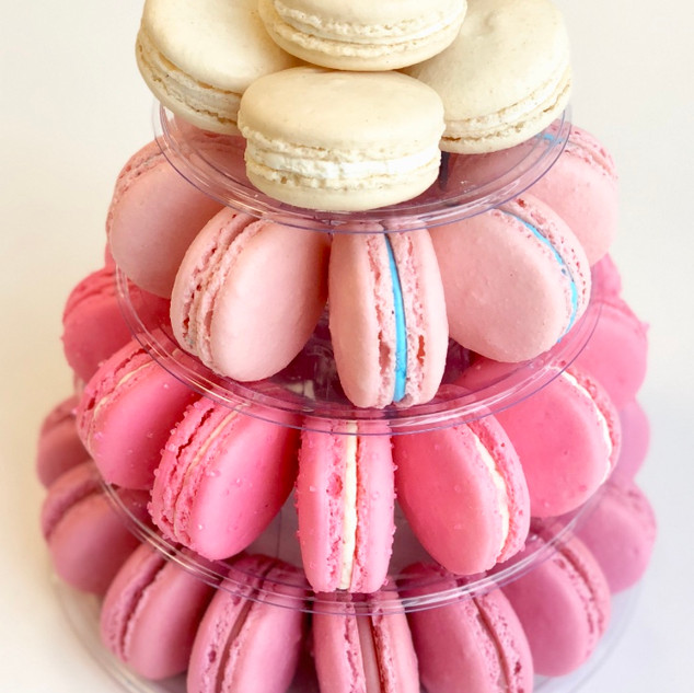 PINK OMBRE MACARON TOWER