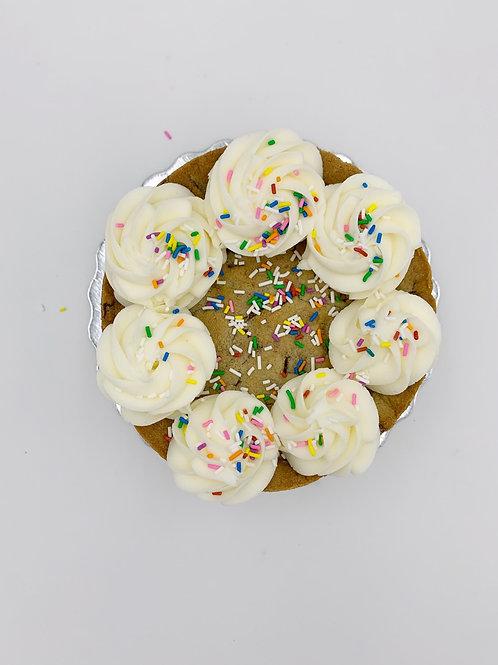 "Layered 6"" Chocolate Chip Cookie Cake!"