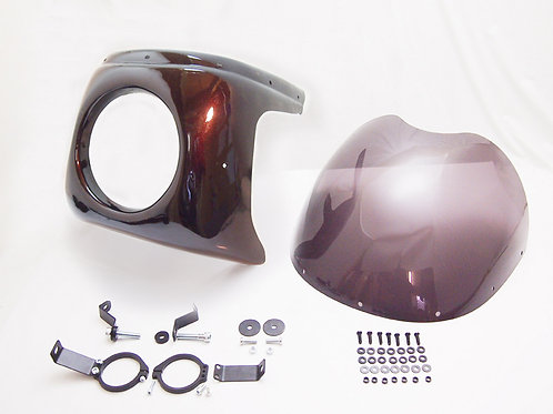 2018 Kawasaki Z900RS brown front cowl with mount kit in 1972 Z900 Style