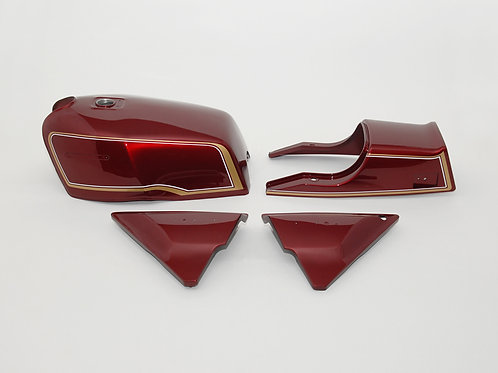 Made to order KZ1000MK2 & KZ750FZ exterior set Luminous Wine Red