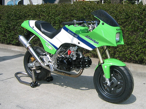Made to order Mininja KSR110 exterior kit reviving GPZ900R without paint