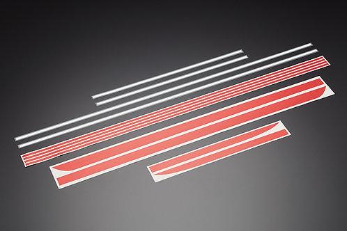 Z900 stripe stickers red/white