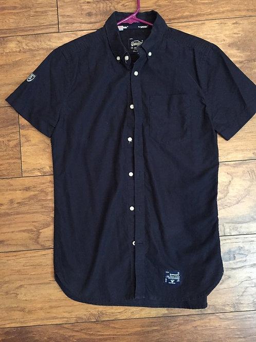 Superdry London Cotton Down Shirt Small Dark blue