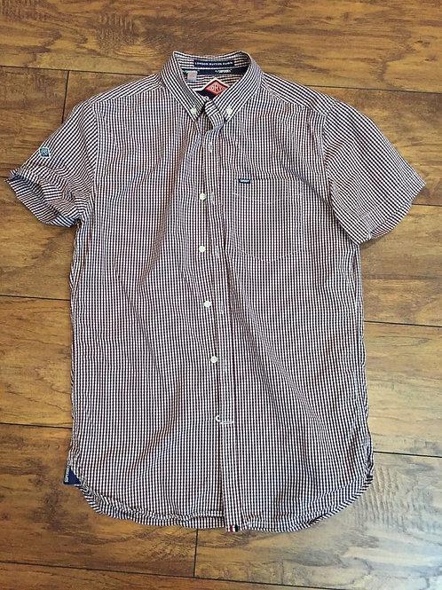 Superdry London Cotton Down Shirt Small Check